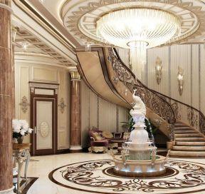 豪华别墅楼梯设计 室内旋转楼梯