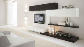 現代簡約客廳布置 簡約電視背景墻