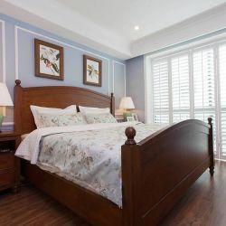 現代美式風格臥室床效果圖