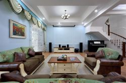 別墅室內客廳設計家具擺放圖片