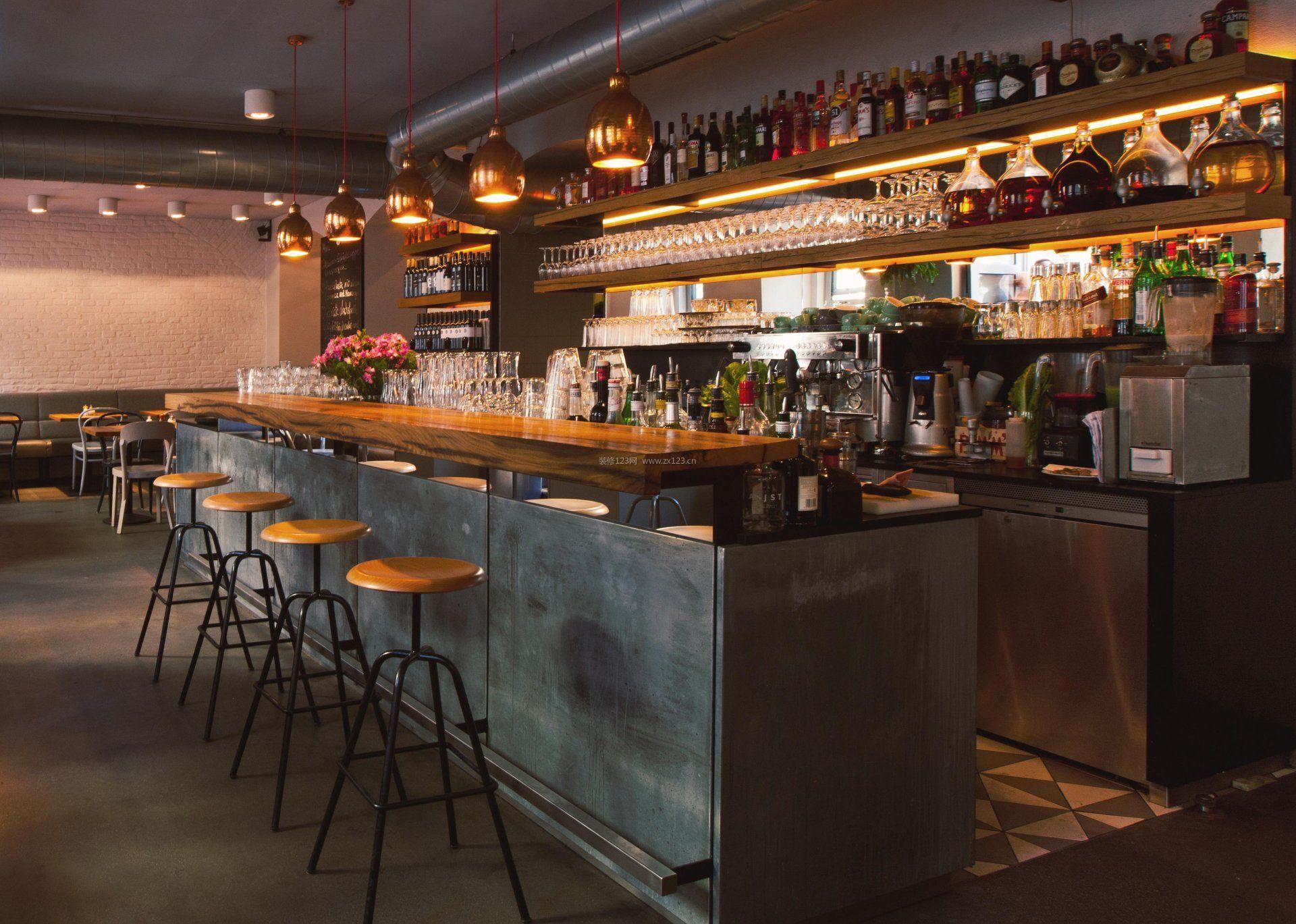 小酒吧吧台酒架装修效果图片图片