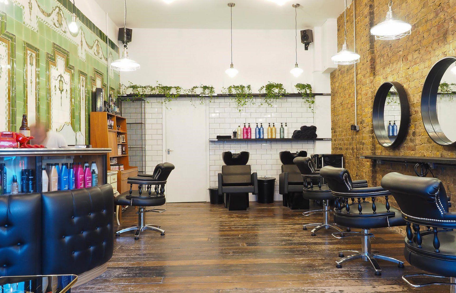 小型理发店室内装饰装修效果图片