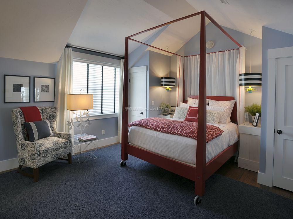 美式主卧室木床图片大全图片