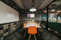 公司辦公室形象墻設計效果圖