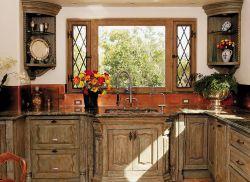 古典歐式風格廚房整體櫥柜裝修效果圖片