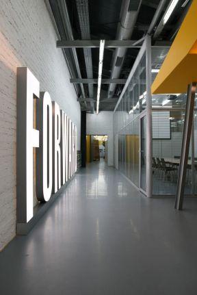大型办公室室内形象墙装修效果图大全