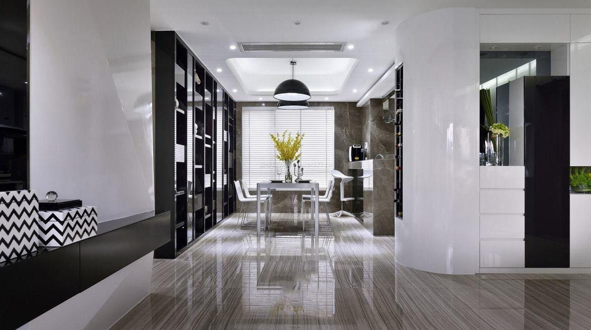 现代时尚室内灰色地砖装修效果图片