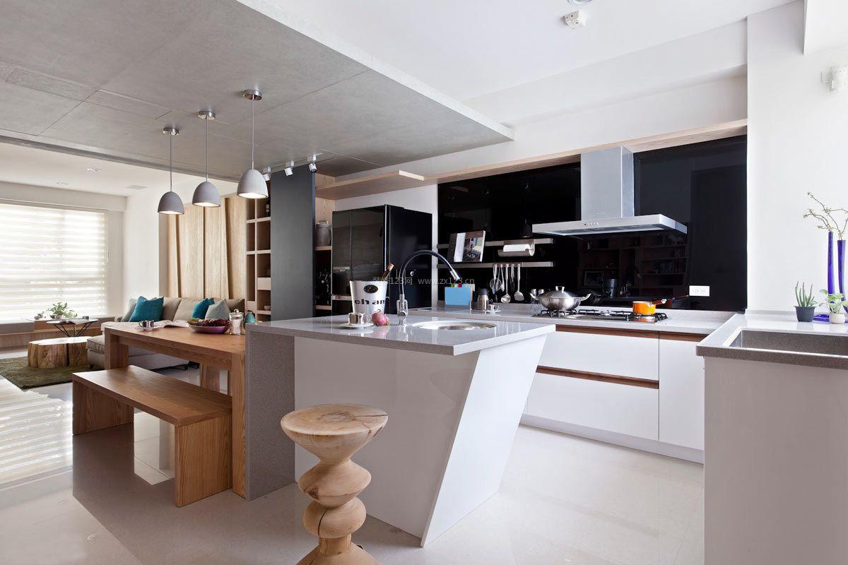 时尚家装开放式厨房橱柜设计图片