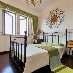 現代美式臥室床裝修效果圖