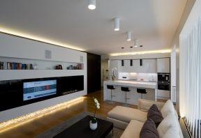 簡約風格小戶型 客廳電視背景墻裝修圖