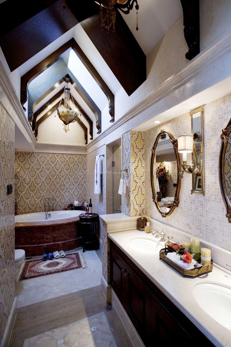美式古典浴室装修效果图片