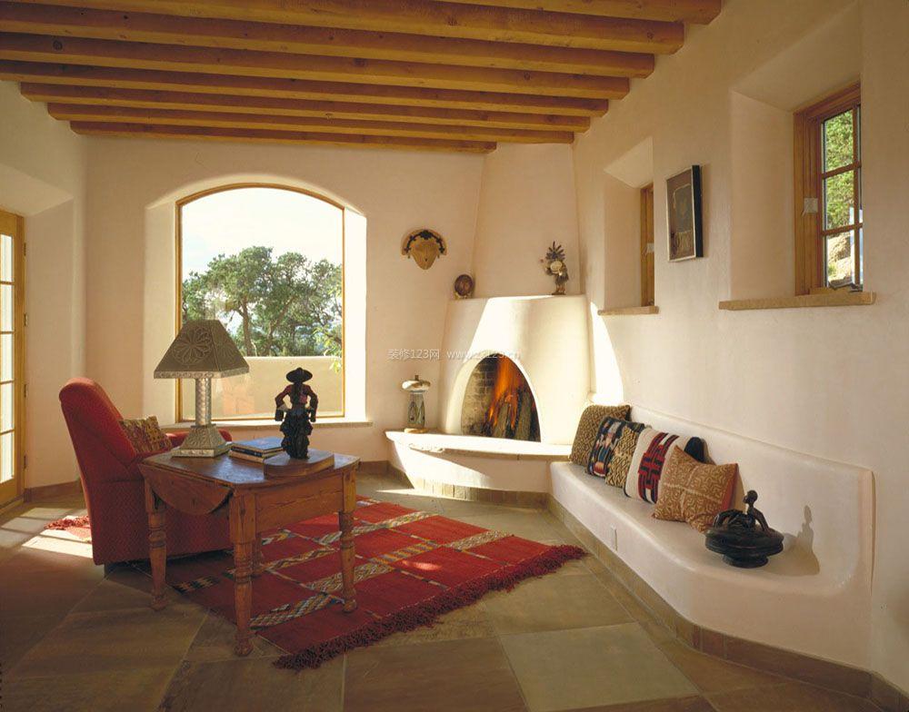 小户型老房客厅木龙骨吊顶设计