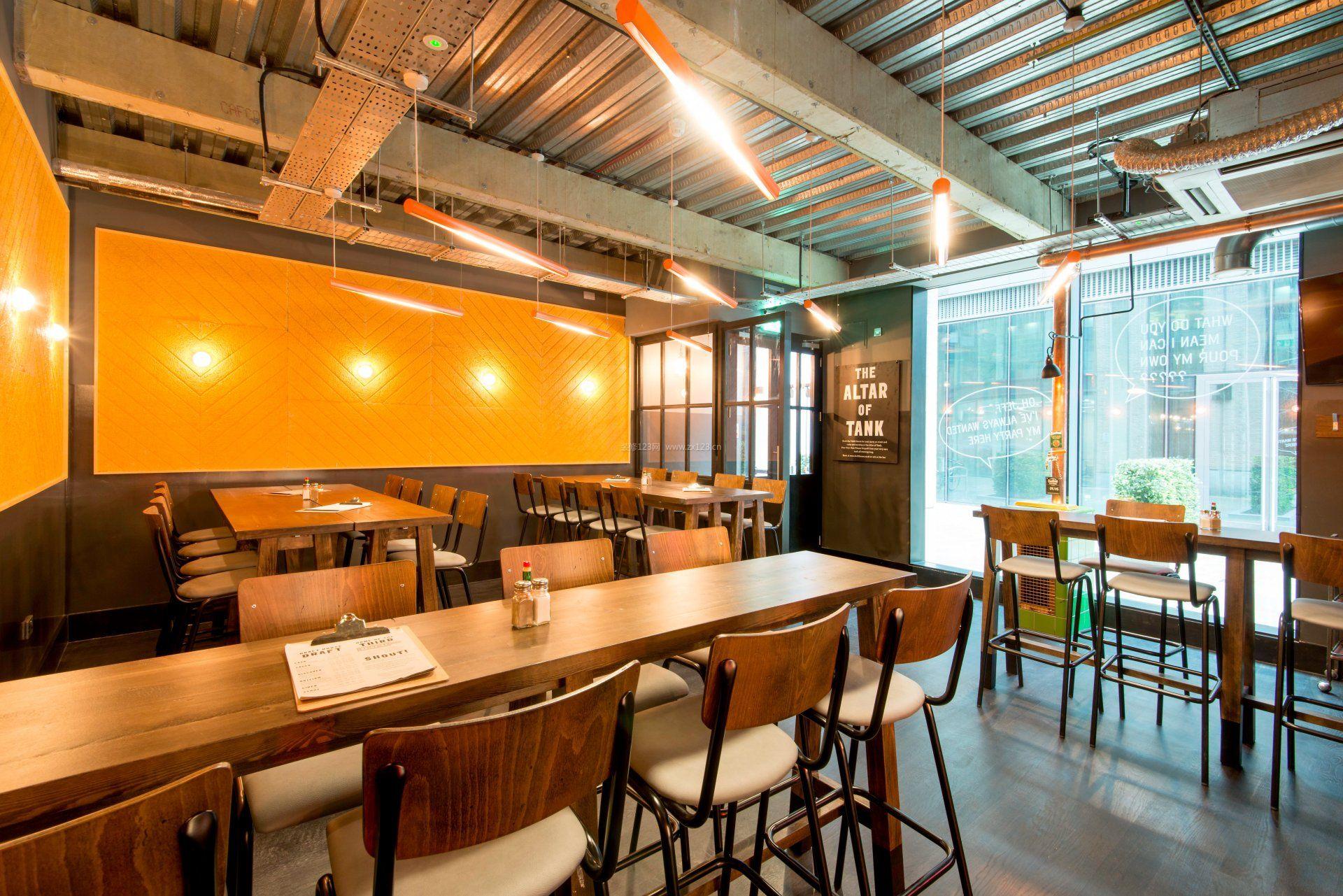 小型餐饮店面室内设计装修效果图