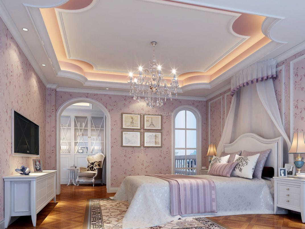 女孩卧室装饰吊顶设计装修效果图片