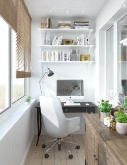 两居室阳台书房装修设计效果图