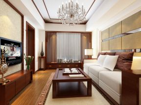 80平方三居室 中式客厅装修效果图欣赏