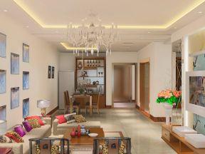 80平方三居室 现代中式风格