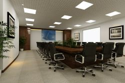 現代公司會議室布置效果圖欣賞