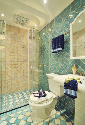 现代欧式风格设计卫生间瓷砖颜色