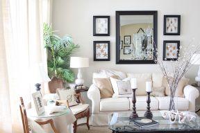 簡約風格小戶型 客廳沙發背景墻裝飾畫