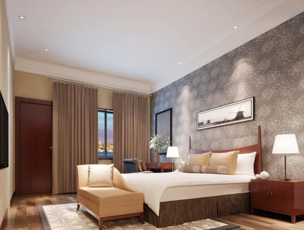 简约中式卧室家具套装装修效果图片图片