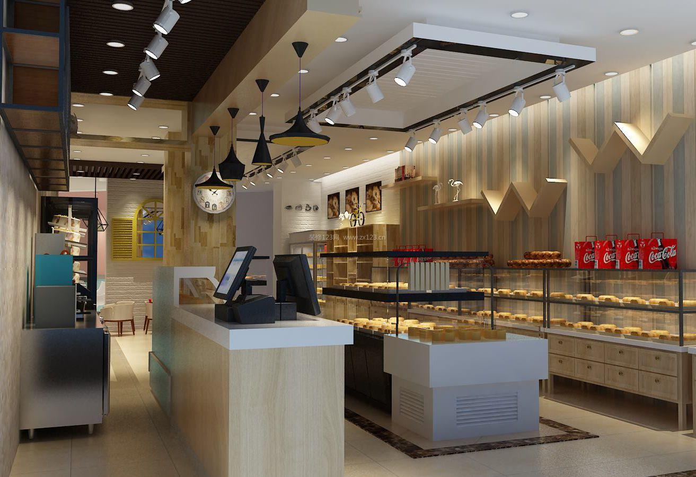 蛋糕店收银台装修效果图片