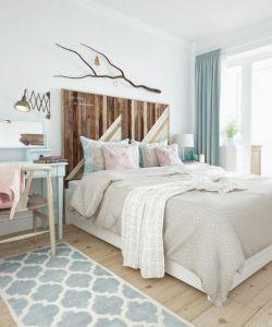 北歐風格臥室床頭背景墻