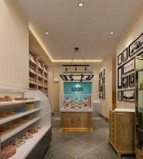 蛋糕店室内地板砖装修效果图片
