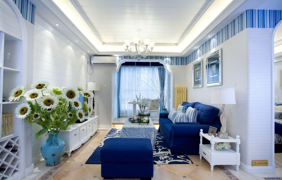 地中海风格室内装修 客厅装修效果图欣赏