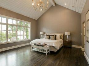 小臥室裝飾設計實景 白色踢腳線效果圖