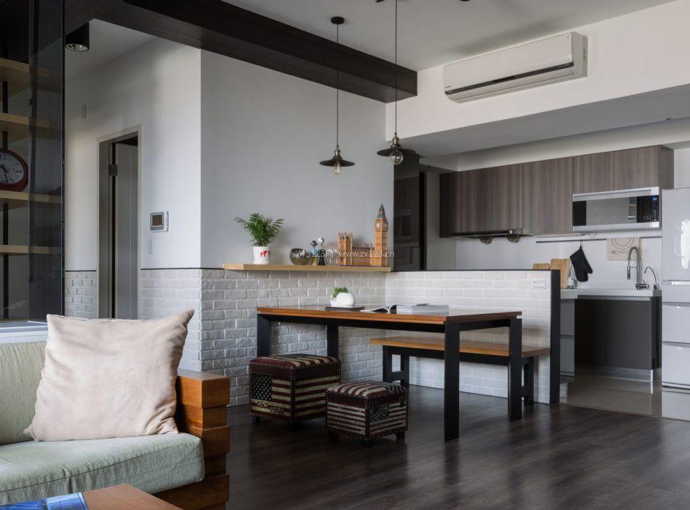 北欧厨房家装设计效果图片_装修123效果图图片