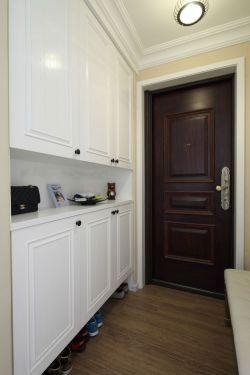 简约美式进门鞋柜装修设计效果图图片