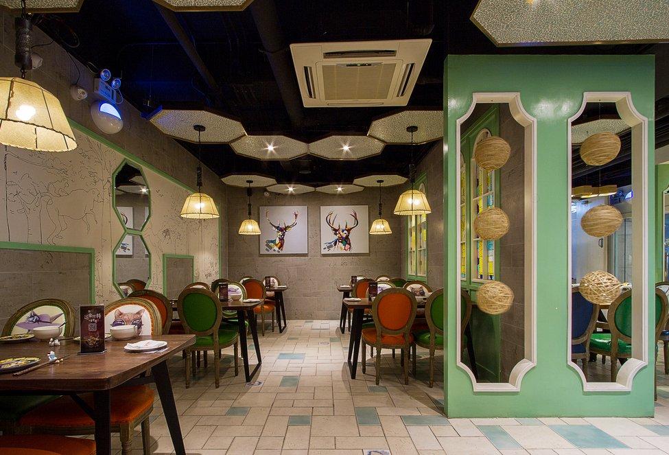 最新特色小饭店室内吊顶装修效果图片