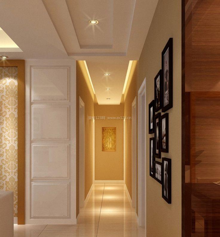 现代欧式客厅过道走廊吊顶装修效果图