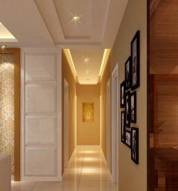 现代欧式客厅过道走廊吊顶装修效果图图片