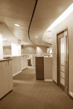 简约办公室过道走廊吊顶装修效果图