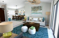地中海風格家居小戶型客廳沙發設計