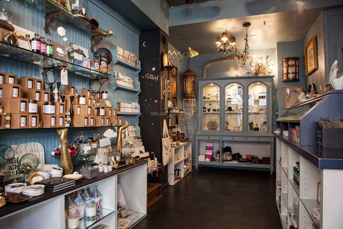 小饰品店室内墙面置物架装修效果图片