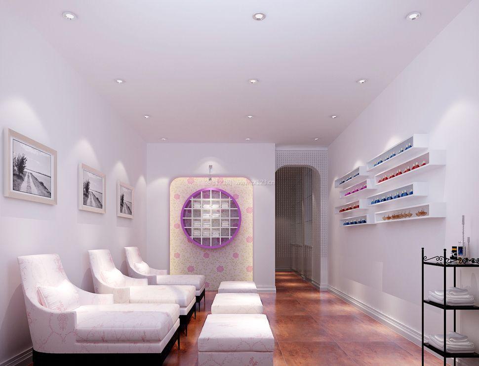 高档美甲店房间室内装修设计效果图片
