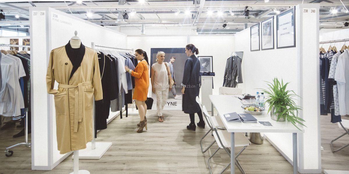 欧美风格女装服装店装修效果图片