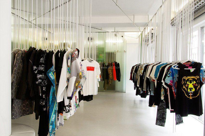 小型个性服装店装修图_个性服装店装修效果图