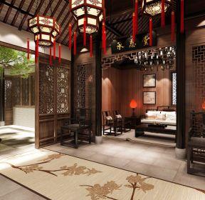 新中式风格别墅客厅隔断装修效果图-每日推荐