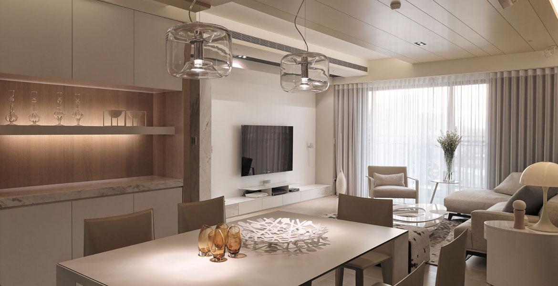 小户型客厅现代简约电视背景墙效果图