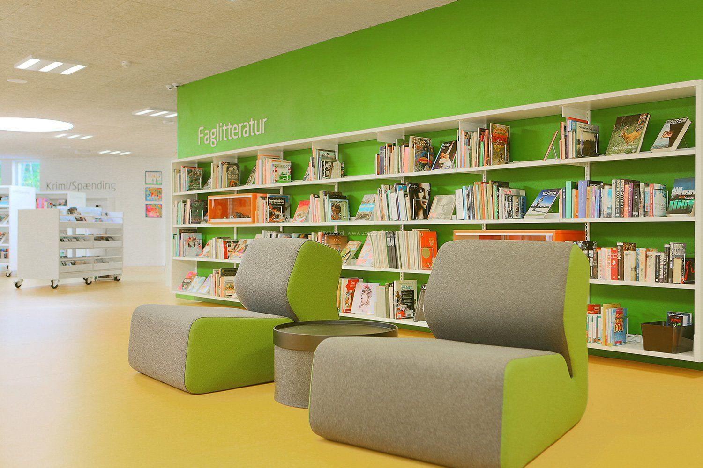 简约图书馆室内书柜设计效果图