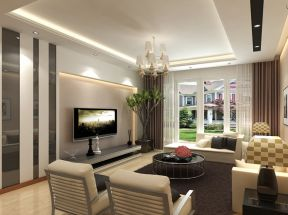 小戶型客廳現代 現代簡約電視背景墻設計