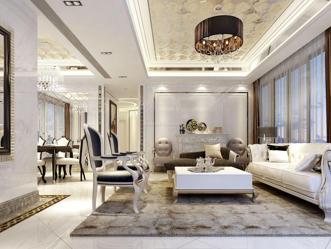 小户型欧式简约风格家庭室内效果图