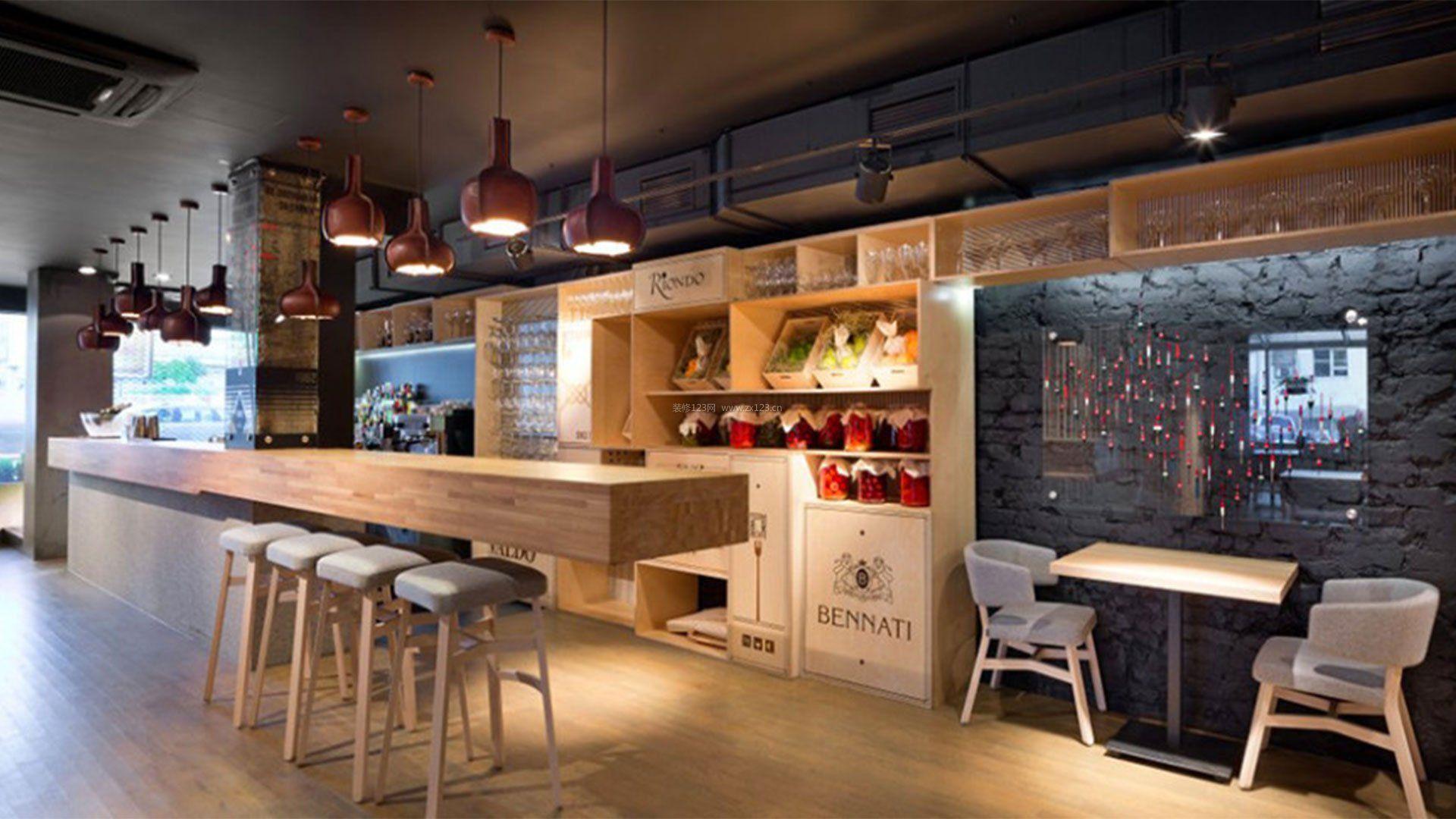 餐饮店面吧台设计效果图