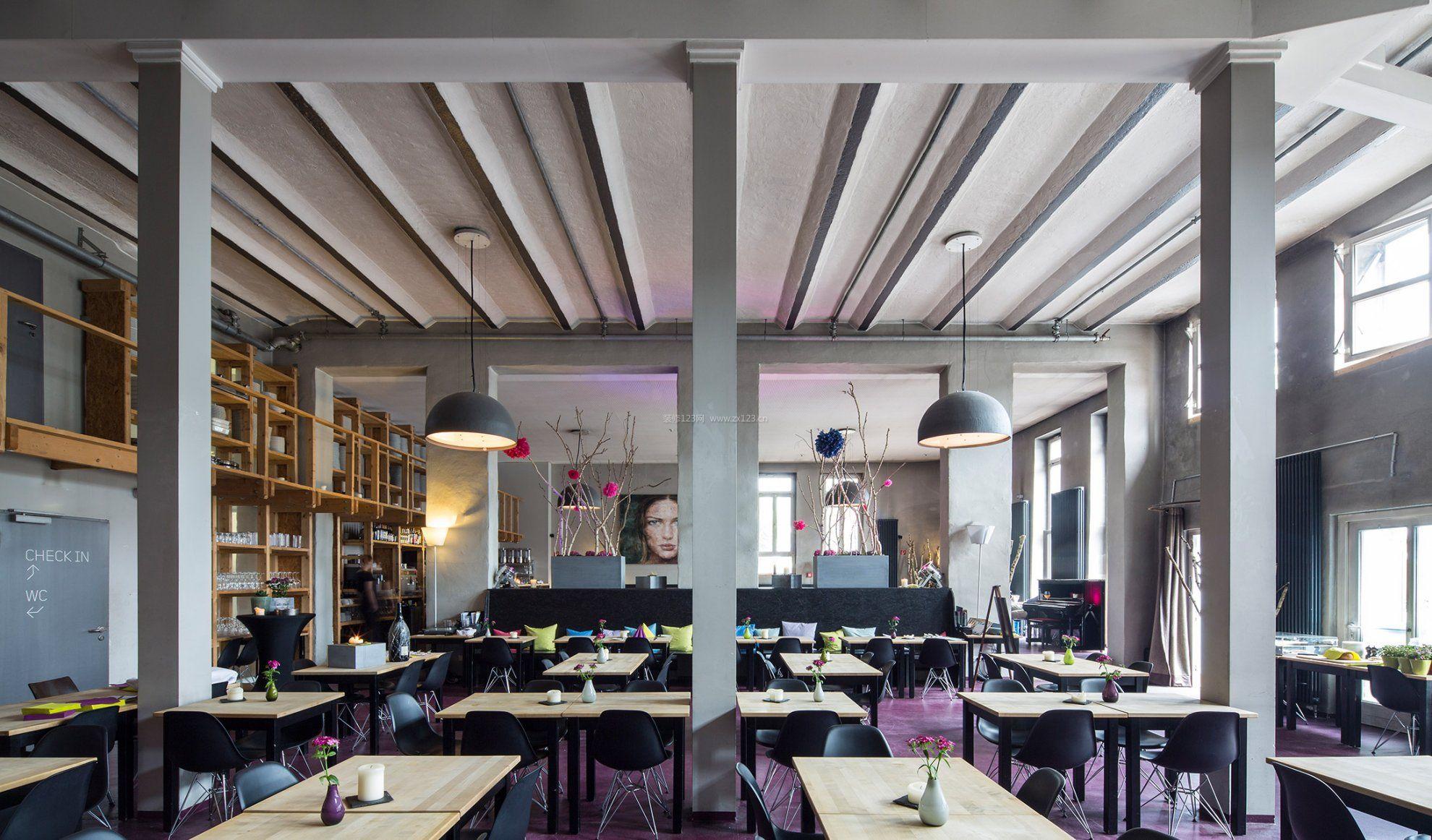 餐馆吊顶装修设计效果图片