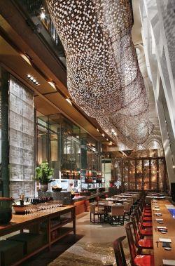 餐馆现代奢华精美吊顶效果图