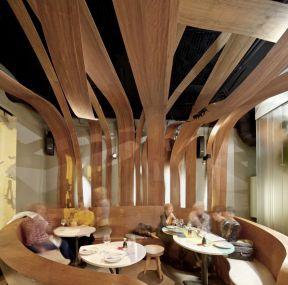 餐饮店面效果图 吊顶设计装修效果图片